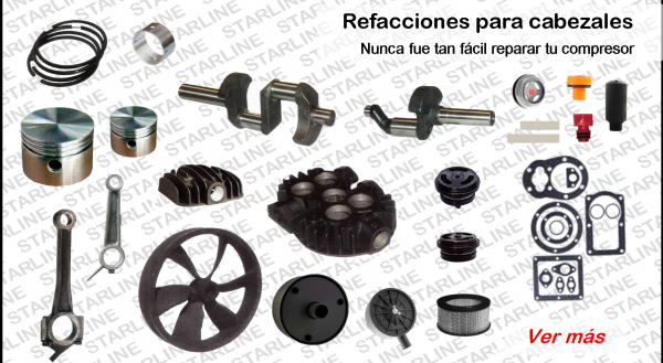 air compressor starline compresores parts partes refacciones